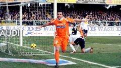 33-годишният стрелец на Удинезе Антонио ди Натале отбеляза нови два гола за клуба си в мача с Чезена