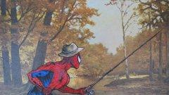 """Дейвид Арвайн намира """"цаката"""" на """"креватната"""" живопис - като я оживява с герои от филми, комикси и книги"""