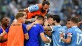 Трилър с пет гола в дебютното дерби на Рим за Моуриньо и Сари