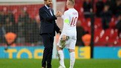 Рууни беше бурно аплодиран от английските фенове в последния си мач с националния екип