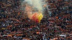 Феновете на Рома се бяха подготвили за празник, но Байерн ги огорчи жестоко