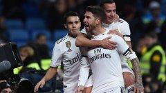 Серхио Рамос показа голяма емоция след отбелязването на дузпата за 1:0