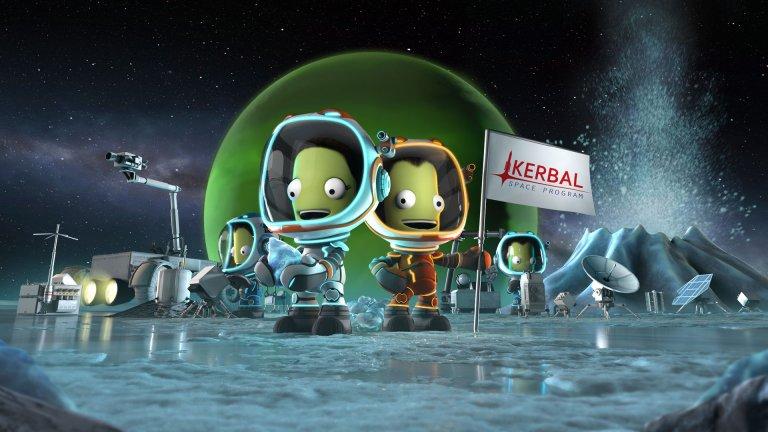 Kerbal Space Program  Как можете да разберете, че една симулация на тема космически програми и завладяване на Космоса е успешна? Достатъчен е фактът, че служители на НАСА, както и Илон Мъск заявяват, че харесват заглавието. Видът на малките зелени хуманоиди, които участват в космическата програма, също не бива да ви подвежда – играта ще ви отведе на едно приятно и доста реалистично приключение, което ще ви покаже колко труд и усилия стоят зад всяко излитане извън земната орбита.   Ще бъдете ангажирани в буквално всяка стъпка – от обмислянето и дизайна на космическия кораб, през изграждането и оборудването му, до опитите да го изстреляте в Космоса и да стигнете до Луната. Един съвет от нас – гледайте да не се привързвате особено много към малките зелени човечета, защото, както знаем, не всяко излитане е успешно. За сметка на това дългите часове, в които се опитвате да хванете цаката и да стигнете SpaceX по опит в космическите програми, ще минат напълно неусетно.