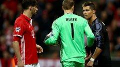 Трима от основните действащи лица в мача - Роналдо стана герой с двата си гола, Нойер положи неимоверни усилия на вратата на Байерн, а Хави Мартинес лековато си изкара два жълти картона и съсипа отбора си