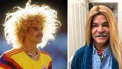 """Карлос Валдерама - легендарната колумбийска """"десетка"""" от миналото, която изкара повече с косата си, отколкото от футбола."""
