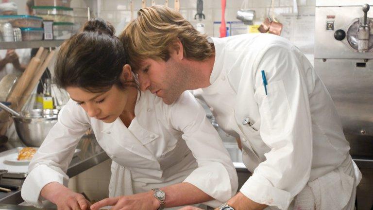 """""""Без резервации"""" В този филм е представена историята на една доста борбена жена, фокусирана върху кулинарията - нейната страст и верую. Съставките са Катрин Зита Джоунс, Арън Екхарт и всякакви гурме вкусотии, начело с една любов."""