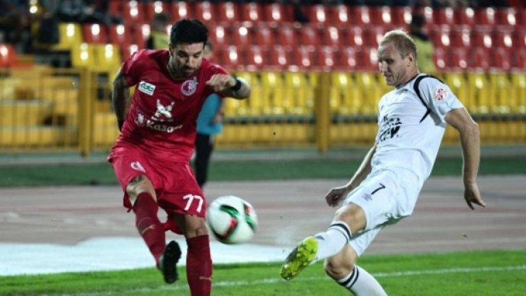 Благой Георгиев вкара първия гол при победата на Рубин Казан с 2:0 у дома срещу Сион.