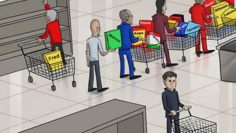Трансферният пазар в Англия.