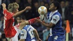 """""""Невероятният Хълк"""" (вдясно) е основно оръжие на португалския колос Порто в похода му към трофея в Лига Европа този сезон"""