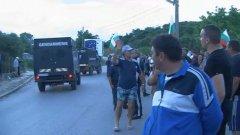 """Продължават протестите на жителите на Гърмен ден след събарянето на 5 от 124-те ромски къщи в кв. """"Кремиковци"""""""