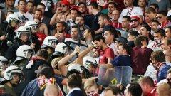 Полицията използва сила срещу феновете на Байерн преди началото на двубоя срещу Олимпиакос