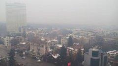 В дни с мъгла като последните няколко дена въздухът се задържа в приземния слой