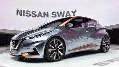 Nissan Sway При представянето на Sway в Женева стана ясно, че концептът показва потенциалните форми и линии на бъдещия компактен хечбек. Дори най-смелите анализатори прогнозират, че с някои бъдещи консервативни промени, то така би изглеждало следващото поколение на популярния Micra. Кой каза, че скромните на размери модели не могат да бъдат вълнуващи?