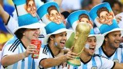 Аржентинските фенове се молят на Лео Меси за чудеса на терена... чак до титлата.