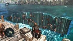 Assassin's Creed IV: Black Flag – Възнесението на един кораб  Поредицата Assassin's Creed по традиция е доста бъгава, но това, което ще видите тук, надминава всичко. Сякаш пиратските приключения не са достатъчни, Black Flag ви хвърля в истински водовъртеж на лудостта. Ако се качите на кораб с името Jackdaw и го закотвите на пристанище, ще се окажете свидетели на невероятен вакуум във времето и пространството, който оставя ужасяваща бездна във водата, сякаш Бермудският триъгълник е дошъл да си поиграе с вас.  Но това не е най-странното - въпреки че корабът го няма, екипажът изглежда заседнал в нищото и пищи по ужасяващ начин. Хората един по един се възнасят към небето или пропадат в бездната... без съмнение за да се появят в някоя паралелна вселена. И когато последният човек изчезне, корабът отново се появява тържествено. Не, и ние нямаме обяснение.