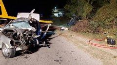 Шофьорът на единия автомобил е карал с висока скорост и е употребил алкохол