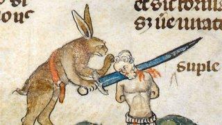 Средновековните зайци-убийци - едно различно чувство за хумор от света на изкуството
