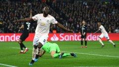 С двата си гола през първото полувреме Лукаку даде надежди на Юнайтед, че може да стигне до крайния успех. Решителният момент обаче дойде едва в 94-ата минута