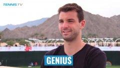 """""""Гений"""" - Григор избра чудесна дума да опише Роджър Федерер."""