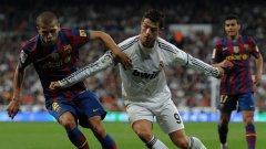 Битката между Кристиано Роналдо и Дани Алвеш бе спечелена от бразилеца