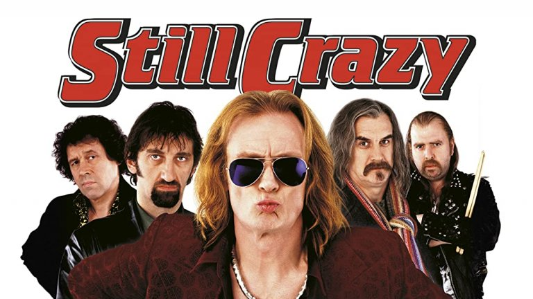 Still Crazy  През 1977 г. по време на рок фестивала в Уисбийч групата Strange Fruit се разпада с гръм и трясък, давайки на зрителите грандиозно шоу, макар и не музикално. 20 години по-късно всеки от музикантите е намерил с какво друго да се занимава, докато синът на организатора на фестивала не намира клавириста на групата Тони Костело и не му предлага да събере Strange Fruit с обещанията за много пари. Въпросът е дали раните са зараснали 20 години по-късно и дали в музикантите все още има достатъчно рокенрол, някъде измежду неплатените сметки, новия спокоен живот и спомените за старата слава. Трудно е да се каже.