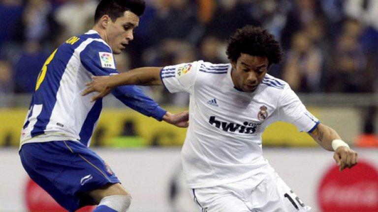 Марсело изигра изключителен мач срещу Еспаньол и донесе ценните три точки на Реал (Мадрид) с попадението си през първото полувреме