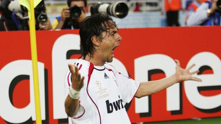 """На 33, Филипо Индзаги спечели втората си Шампионска лига с Милан, отбелязвайки и двата гола за """"росонерите"""" във финала срещу Ливърпул. Но беше доста слаб през цялата година."""