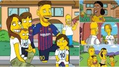 """Вижте как биха изглеждали футболните звезди, ако бяха герои от """"Семейство Симпсънс""""..."""