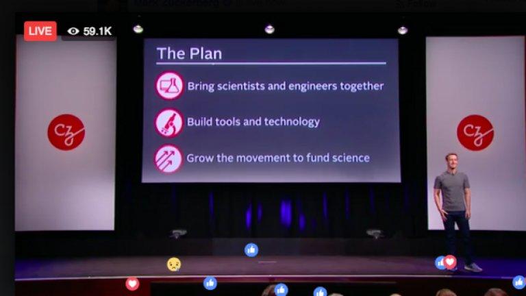 Целта на семейство Зукърбърг е да създадат хъб от учени от световна класа