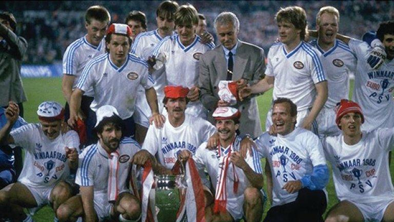 ПСВ Айндховен разби прогнозите през 1988 г., изпревари Аякс и Фейенорд в първенството, вдигна Купата на европейските шампиони, както и Купата на Холандия. И е част от компанията на отбраните.