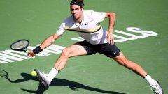 Федерер е на три победи от защитата на титлата си в Индиън Уелс.