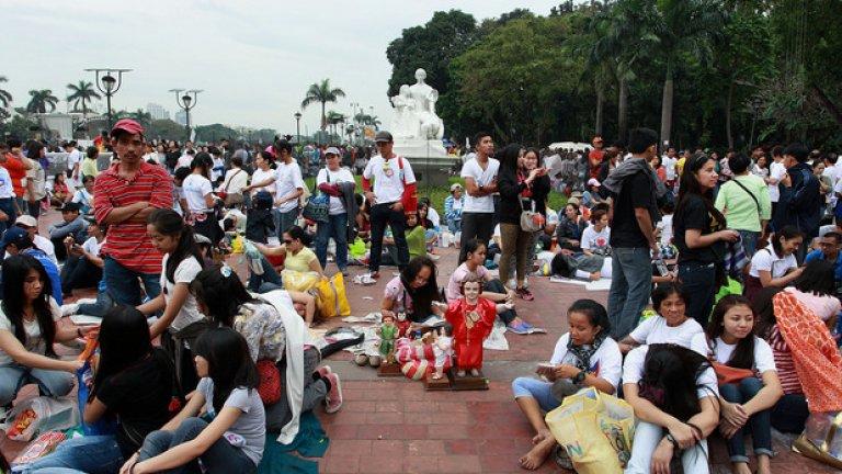 Месата се проведе в парка Ризал (Rizal Park)