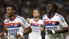 Мишел Бастош и Бафетимби Гоми (на два пъти) се разписаха за победата на Олимпик (Лион) с 3:1 в дербито с Бордо