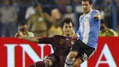 Фернандо Аморебиета не само че опази Лионел Меси, но и вкара гола за историческата първа победа на Венесуела срещу Аржентина