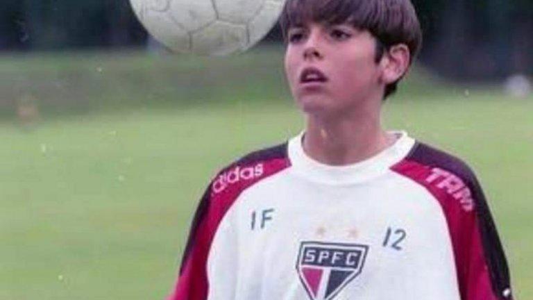 Младият Кака като юноша на Сао Пауло.