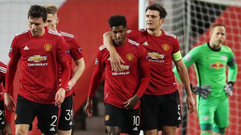 Юнайтед избухна в Шампионската лига, хеттрик за Рашфорд