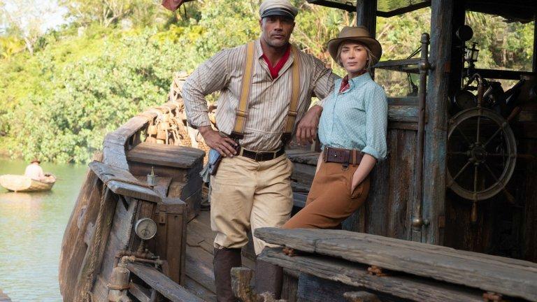 """""""Круиз в джунглата"""" Къде: в кината Кога: 30 юли  Лятото няма да мине без Дуейн Джонсън-Скалата, макар и в приключенски филм в духа на """"Джуманджи"""", а не в поредния екшън. Лили Холтър (Емили Блънт) има за цел да открие мистично дърво с лечебна сила в опасните дебри на джунглата. Нуждае се обаче от специален транспорт през бурните води на Амазония, поради което наема опитния капитан на кораб Франк (Джонсън). Планът е той да я заведе бързо и безопасно до целта, но всичко това се обърква от поредица спънки в семейната комедия."""