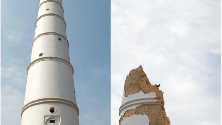 Кулата Дхарахара - преди и след земетресението