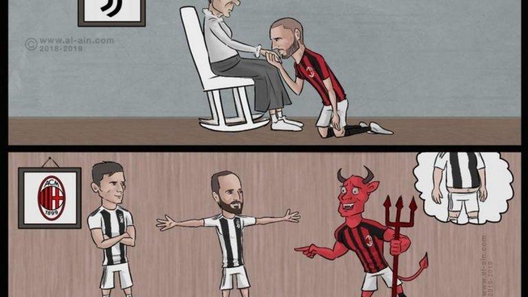 """Бонучи отново целува ръката на """"старата госпожа"""", Милан не може да разпознае Игуаин"""