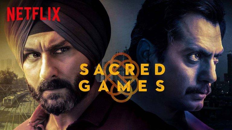 """Индия - Sacred Games Индийските сериали могат да бъдат и далеч по-динамични от """"Малката булка"""" и Sacred Games е доказателството за това. Един уморен от живота и корупцията наоколо полицай в Мумбай получава обаждане от известен гангстер, изчезнал преди 16 години, с предупреждението, че нещо ужасяващо ще се случи в града след 25 дни. Това задейства верига от събития, стигащи до самия център на корупцията, където полиция, политика и подземен свят се срещат в едно. А на полицаят се пада да се набута до ушите в калта, за да спре апокалиптичните намерения на странен и потаен враг, докато междувременно се опитва да разкрие истината за смъртта на баща си. Сериалът до момента има 2 сезона и общо 16 епизода. Така че мястото за дълги и протяжни погледи е сведено до минимум."""
