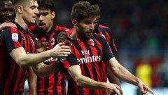 Борини вкара втория гол за Милан, който в крайна сметка се оказа победен