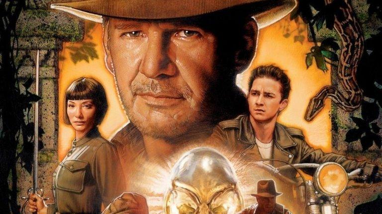 """""""Индиана Джоунс и кралството на кристалния череп"""" (2008 г.) Години разлика: 19 Продължение на: """"Индиана Джоунс и последният кръстоносен поход"""" (1989 г.)  Инди (Харисън Форд) се завърна на екран след почти две десетилетия отсъствие, но с идеята да представи на публиката сина си (Шая Лабъф). Предаването на щафетата от доста възрастния Форд обаче не се получи - четвъртият филм за археолога приключенец доведе до много разнопосочни мнения, като консенсусът е, че по-скоро не си е струвал чакането. А дори самият Лабъф разкритикува лентата. Все пак предстои нов, пети филм, който ще се появи на екран през 2022 г., когато Харисън Форд вече ще е на 80."""