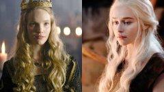 """Тамзин Мърчант  Преди Емилия Кларк да придобие световна слава като Денерис Таргариен, нейната роля е била предвидена за друга актриса. Звездата от """"Тюдорите"""" Тамзин Мърчант се превъплъщава в образа на Майката на драконите в оригиналния, но неизлъчен пилотен епизод на Game of Thrones. След като той е върнат за преработване, тя се отказва от работата си в сериала, което оставя една от основните роли без титуляр. Каквито и да са били причините - сега Кларк е момичето със сребърните коси."""