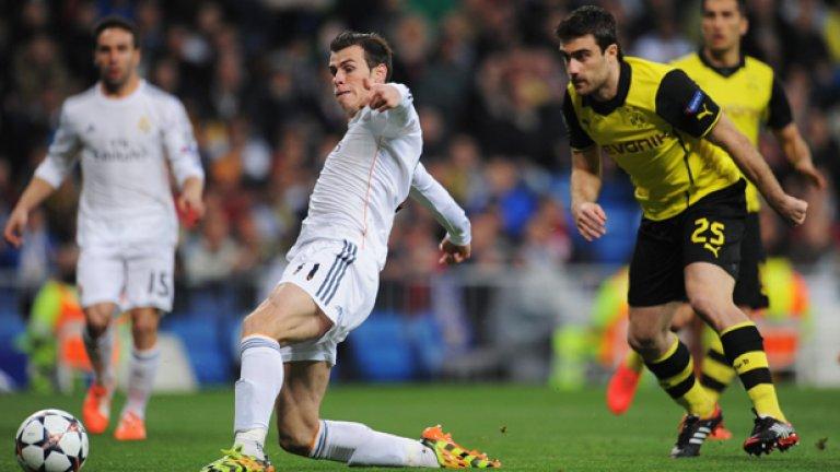 Гарет Бейл сложи началото на голеадата с попадението си в 3-ата минута за Реал.