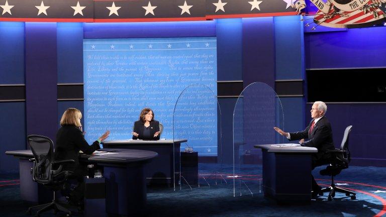 Според Харис действията на Доналд Тръмп са довели до рекордни щети за Америка - и в здравен, и в икономически план. Майк Пенс пък го кацна муха.