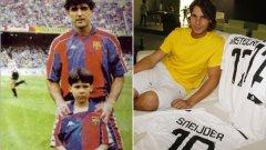 Рафаел Надал - Реал Мадрид При Рафа е малко по-сложно. Като дете подкрепя Барселона заради чичо си Мигел Анхел Надал, който е съотборник на Христо Стоичков в Дриймтима на каталунците. Но сърцето винаги то е теглело към Реал. Има симпатии и към родния си тим Майорка