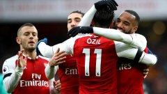 Лаказет вкара за 4:0 след асистенция на Йозил, а Арсенал сложи край на серията си от 5 мача без победа във всички турнири
