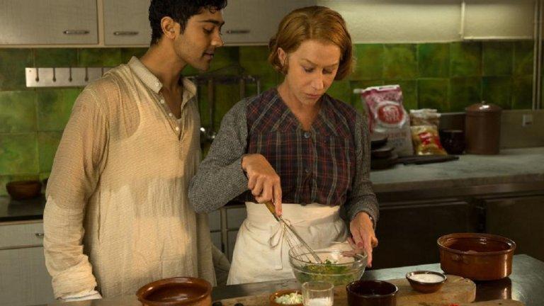 """""""На един черпак разстояние"""" (The Hundred-Foot Journey)  Историята разказва за индийско семейство, което заминава за Франция и отваря ресторант в малко селце с твърди традиции по отношение на кухнята. Фамилията, пристигаща от Изток, начело с бащата Хасан (Ом Пури), е решена да отстоява честта на Индия с черпак и да покаже, че може да приготвя вкусни ястия, макар и да са по-пикантни от тези на конкурентите им рестонатньори в Южна Франция."""