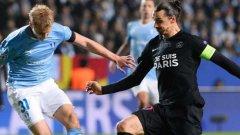Златан вкара на първия си клуб, а ПСЖ победи с 5:0 Малмьо