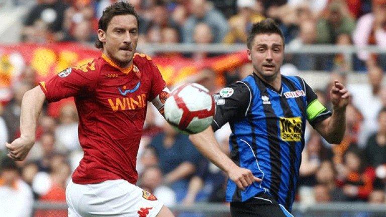 Рома е на пет кръга от титлата в Италия след като днес свали Интер от върха